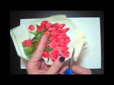 Decoupage de guardanapo em mdf (caixinha) passo a passo - YouTube