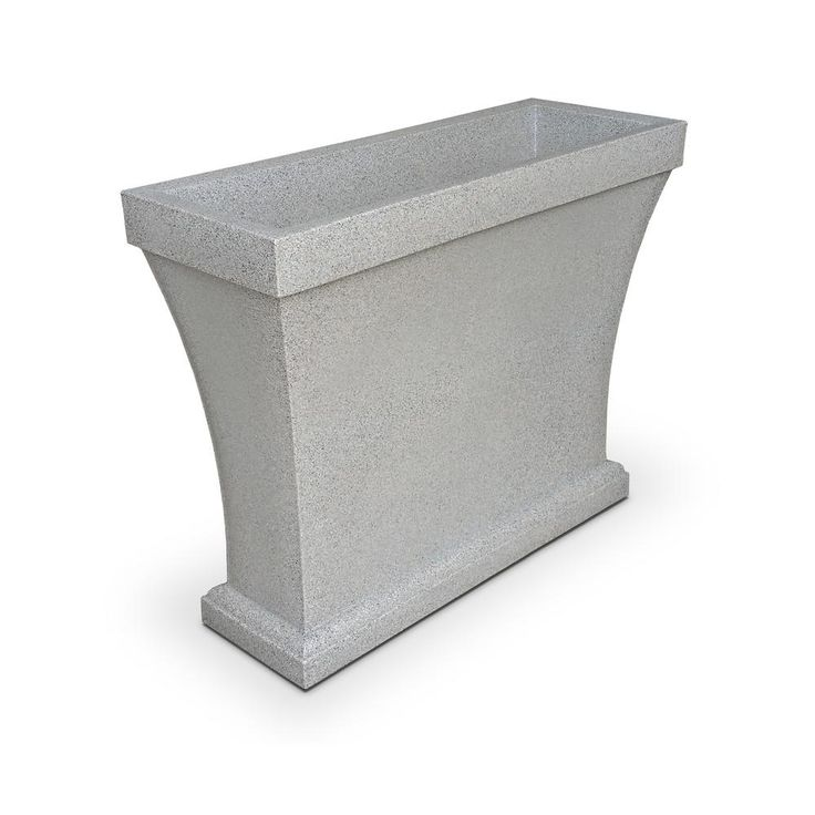 Bordeaux 40 in. Sandstone (Brown) Plastic Trough Planter