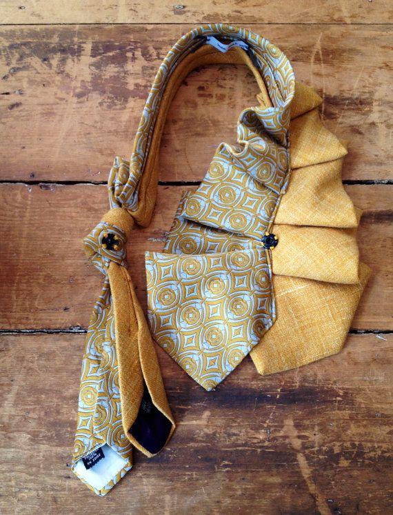 Mustard Vintage Tie Neckwrap by judaleah on Etsy