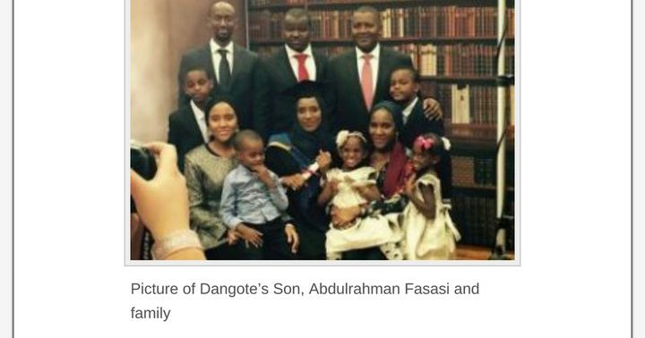 Who is Aliko Dangotes first son? Find out the heir who inherits the companies and properties of Africas richest business man Dangote in this write-up.  Aliko Dangote has a son whose name is Abdulrahman Fasasi. It is said that he is not the biological first son but he was adopted by Dangote. As you can see that he doesnt bear the name of Nigerias richest man.  While much is not known about Abdulrahman Fasasis public life wife family and businesses we know that he is currently doing really…