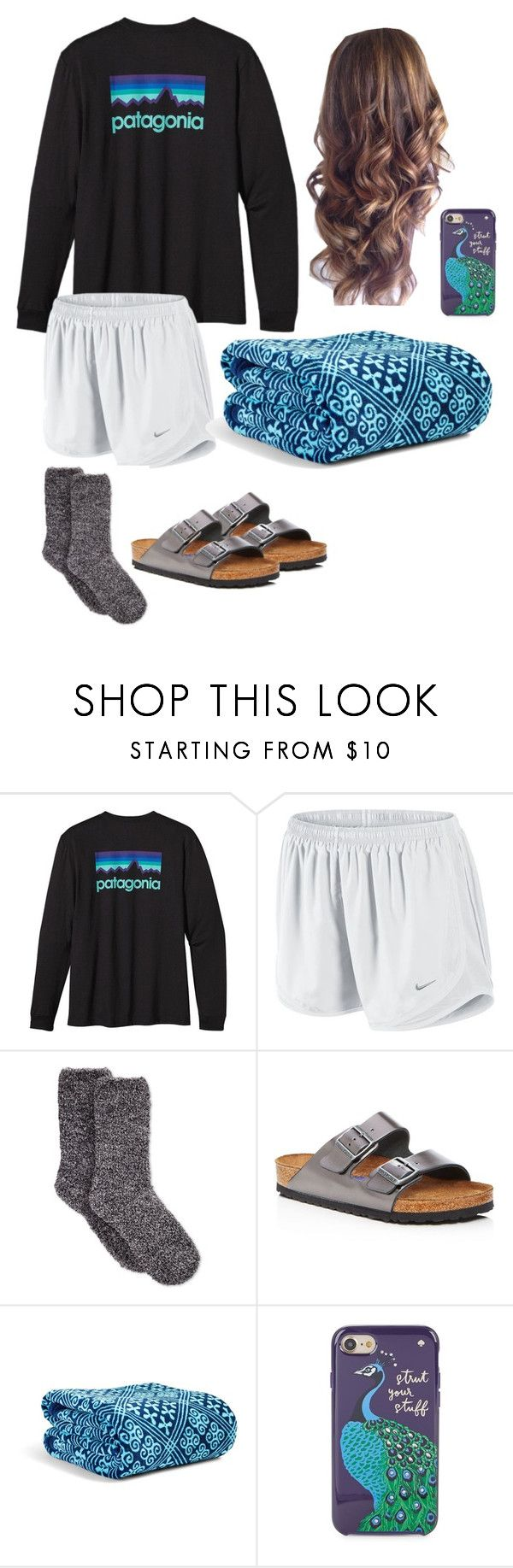 """""""Summer Stay Awake"""" by mirandamf on Polyvore featuring Patagonia, NIKE, Charter Club, Birkenstock, Vera Bradley and Kate Spade"""