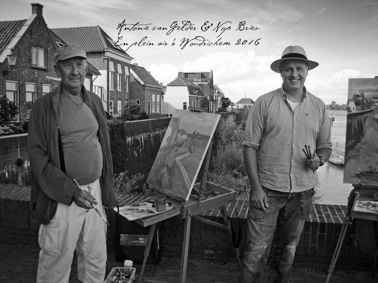 Paint out in Woudrichem, Antonie van Gelder and Nop Briex. 2016