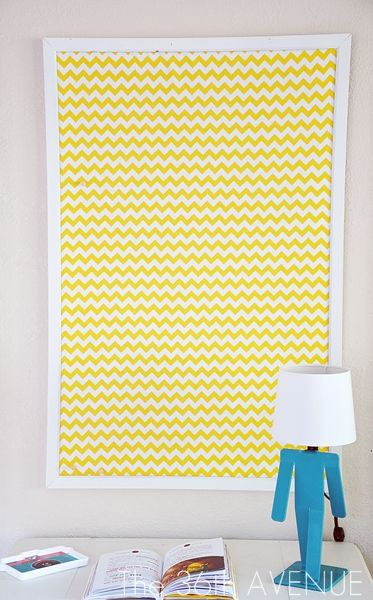 Make your work space more lively and colorful with this DIY Fabric Covered Pin Board tutorial #DIY #craftrooms #office