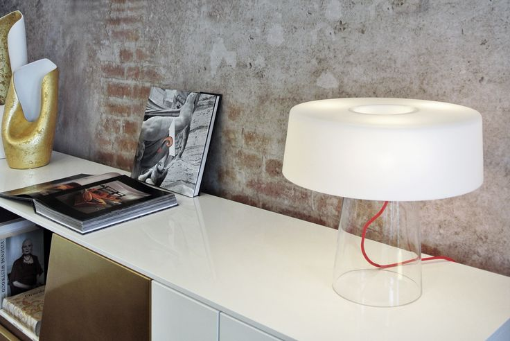 #Glam table lamp, design by Luc Ramael for #Prandina here displayed in #London at #Apeiron, our showroom located in #Chelsea