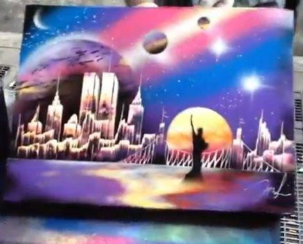 Spray Paint Artwork Amazing Artist In New York City