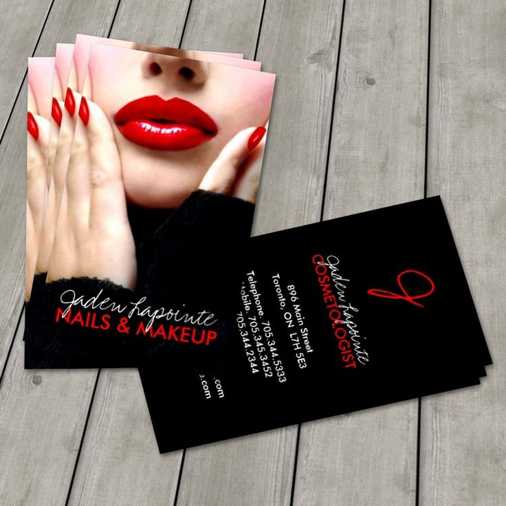 92 best makeup artist business cards images on pinterest makeup cosmetologist business card template colourmoves