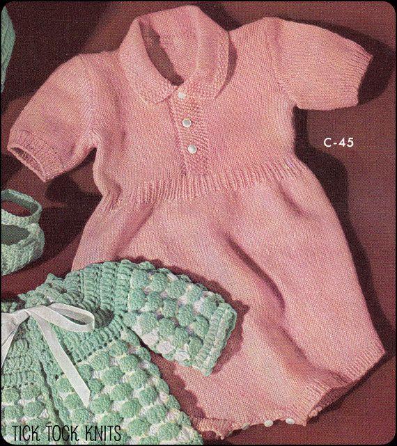 No.200 Baby Knitting Pattern PDF Vintage Baby's by TickTockKnits