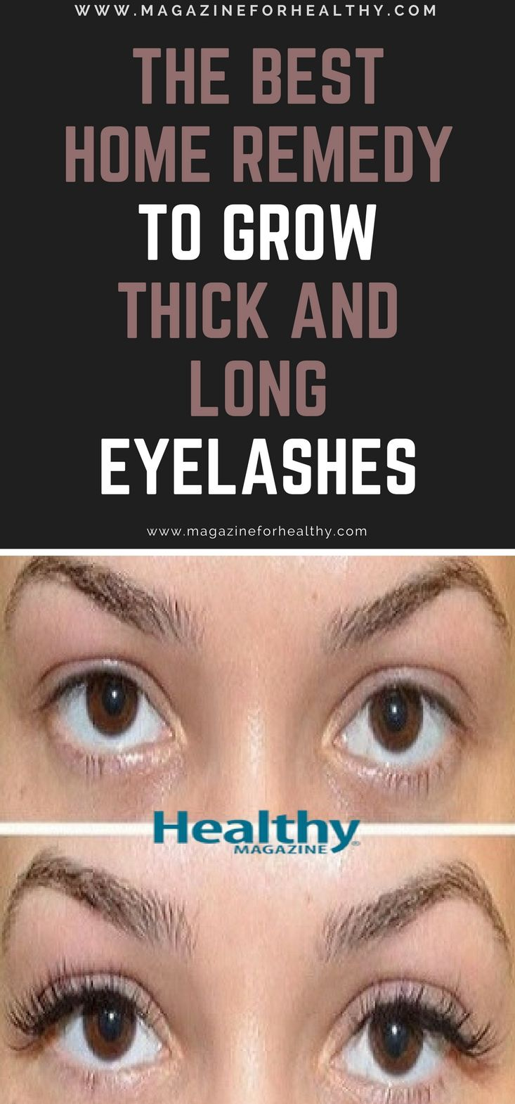 The Best Home Remedy to Grow Thick and Long Eyelashes