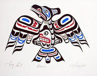 Pacific Northwest Native Indian Art- Raven