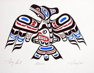 Pacific Northwest Native Indian Art- Raven