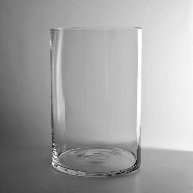 Glass Cylinder Vase 12x8 http://www.wholesaleflowersandsupplies.com/store/p/1373-12-x-8-Glass-Cylinder-Vase.html