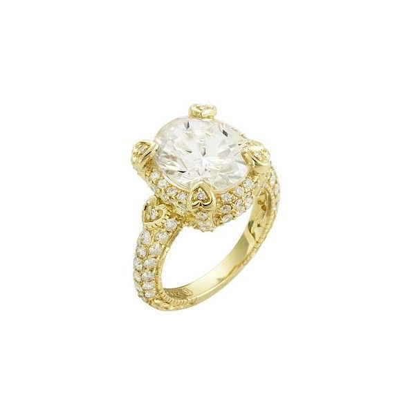 Judith Ripka Lola Crystal Ring ❤ liked on Polyvore featuring jewelry, rings, accessories, judith ripka rings, crystal jewelry, crystal stone jewelry, crystal jewellery and judith ripka