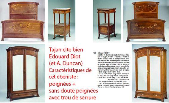 Edouard Diot Serrure Ebeniste Duncan