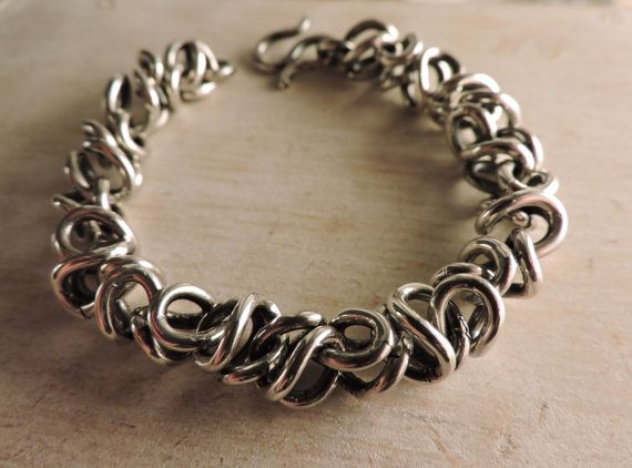 Mens Zilveren armband grote Unisex armband door Valentinolandia