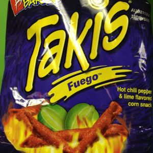 What makes Takis so good is its strong corn flavor. Plus, it comes in four variants: Fuego hot chili pepper and lemon), Nitro (habanero and lime), Salsa Brava (hot sauce), and Fajita (taco flavored).  *Image by Robin Mitchell