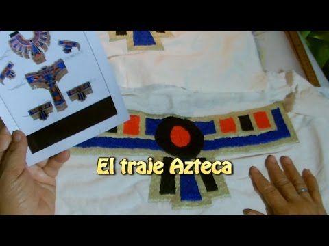 El traje azteca  Creaciones y manualidades angeles - YouTube