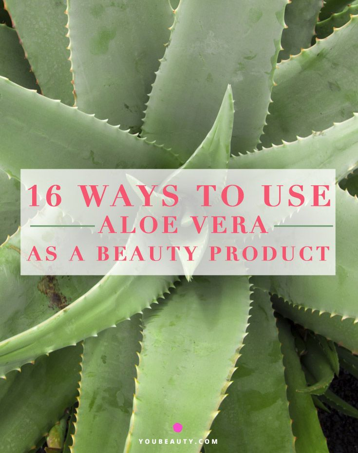 ∆ Aloe Vera...16 Ways to Use Aloe Vera as a Beauty Product...Makeup Remover: As a smokey eye fiend, I know firsthand how getting it off at the end of the night is a pain. Many makeup removers can be harsh on the delicate skin around the eye and dry it out. A quick trick? Take Aloe vera gel (either store-bought or straight from the plant) on a cotton pad and swipe away before hitting the sack.