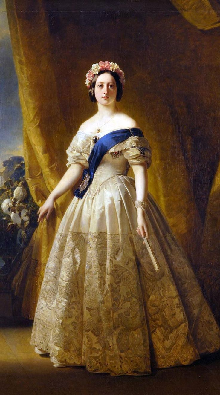 Only child of Prince Edward Augustus Duke of Kent & Strathearn (1767–1820) & Princess Victoria (Marie Luise Viktoria) (1786–1861) of Saxe-Coburg & future wife of Prince Albert of Saxe Coburg & Gotha (1819-1861). Queen Victoria (1819-1901) by Unknown Artist. During Victoria's reign, Great Britain would be transformed into the wealthiest and most powerful nation on Earth. Victoria would add to her dignities the title Empress of India.