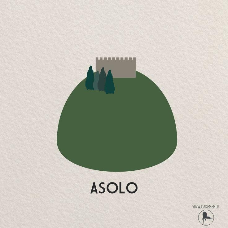La Rocca di Asolo - Italy - Illustration by Elena Scquizzato
