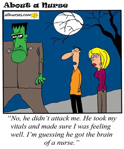 cartoon checking vitals on a stranger to see if they are ok about a halloween humorabout - Halloween Humor Jokes