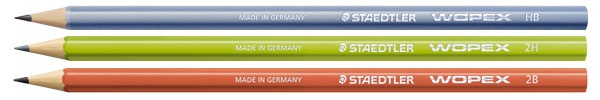 Staedtler Wopex Pencil - the wopex material does not splinter like wood so provides a smooth surface, even when sharpened!