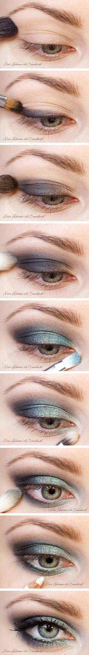 Eye Makeup : Turquoise Dragon