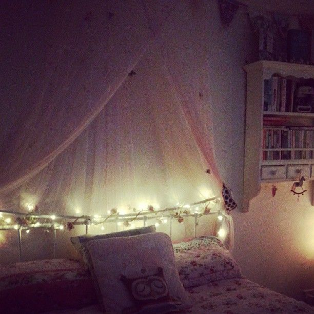 Threaded Some Battery Powered Fairy Lights Around My Bed