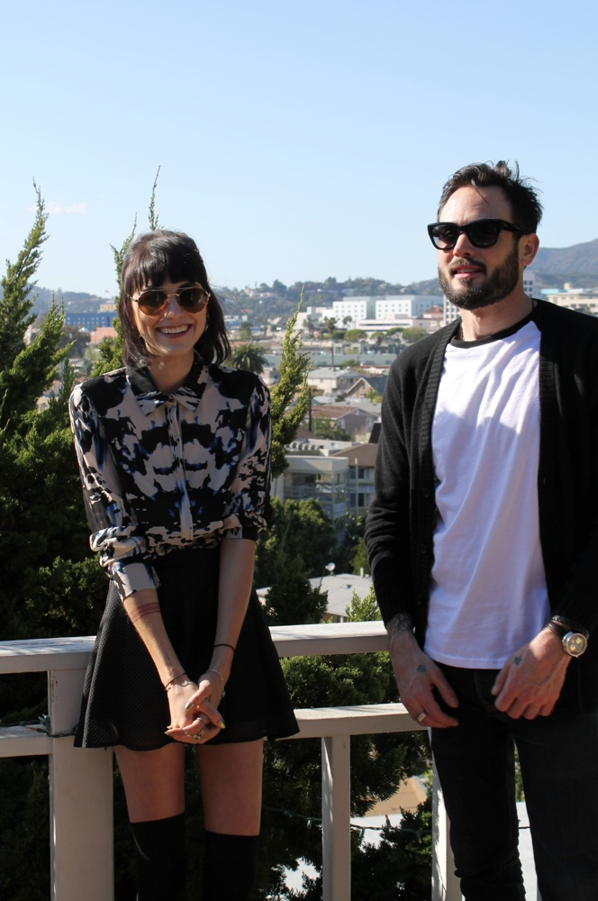 Ep. 3 Rose Bowl/ LA - Langley Fox & @Matty Chuah Impossible Cool.'s Sean Sullivan hanging out on the balcony of her studio | #LA #Hollywood #MyReality #bariii