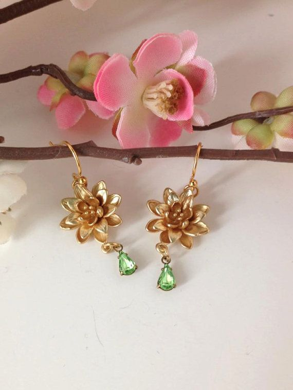 TIANA earrings 16k Gold / Disney Luxe Princess by MaisonMagnolia