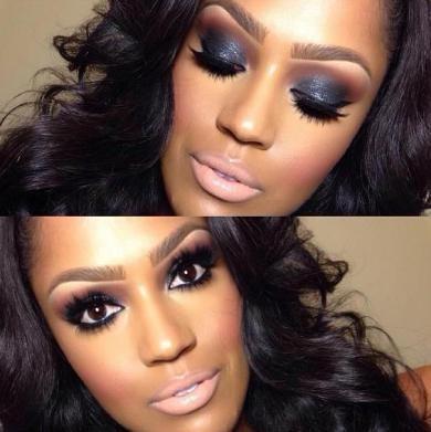 Maquiagem para pele morena/negra