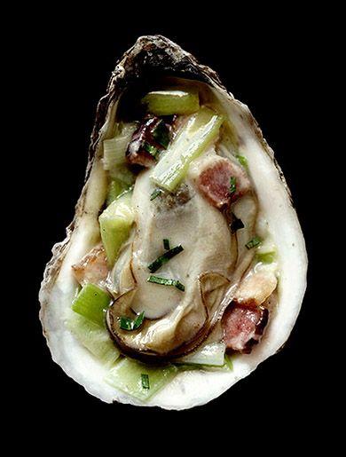 Food   New York Magazine   -Turkey/ Oyster with Leeks & Bacon.   Marcus Nilsson