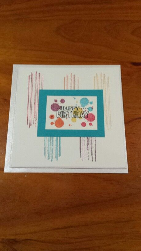 Made using Stampin' Up's brights series on Very Vanilla cardstock.
