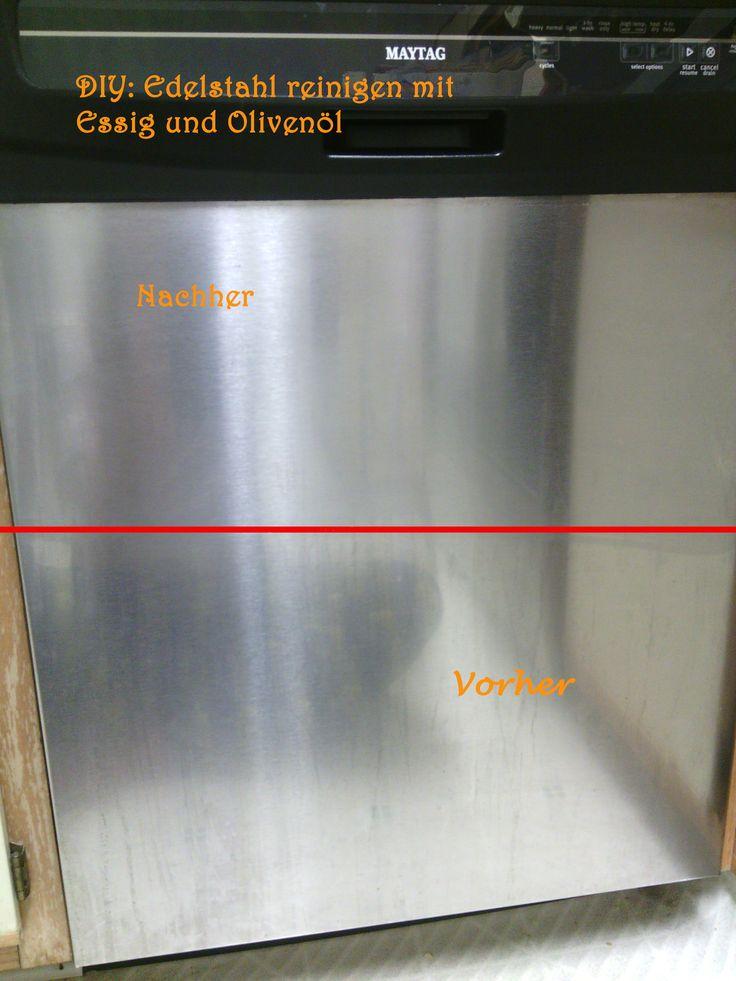 DIY Edelstahl-Reiniger & Polierer - tolle Ergebnisse für Kühlschränke, Spülmaschinen, ...! Clean and polish your stainless steel fridge, dishwasher...