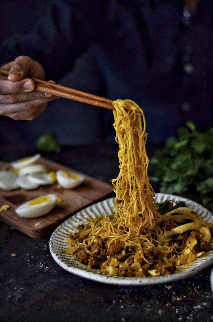 Burmese Curry Noodle (www.ChefBrandy.com)
