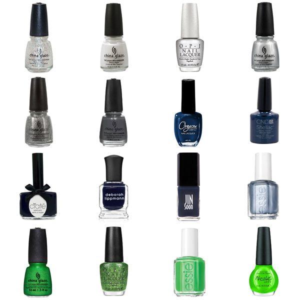 Blue Nail Polish Combinations: Silver, Blue, & Green Nail Polish Shades & Color