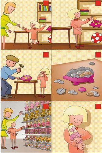 DaF - Bildergeschichten - das Sparschwein