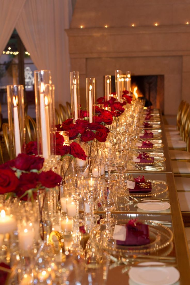 Glam and modern wedding. event and floral design by ...