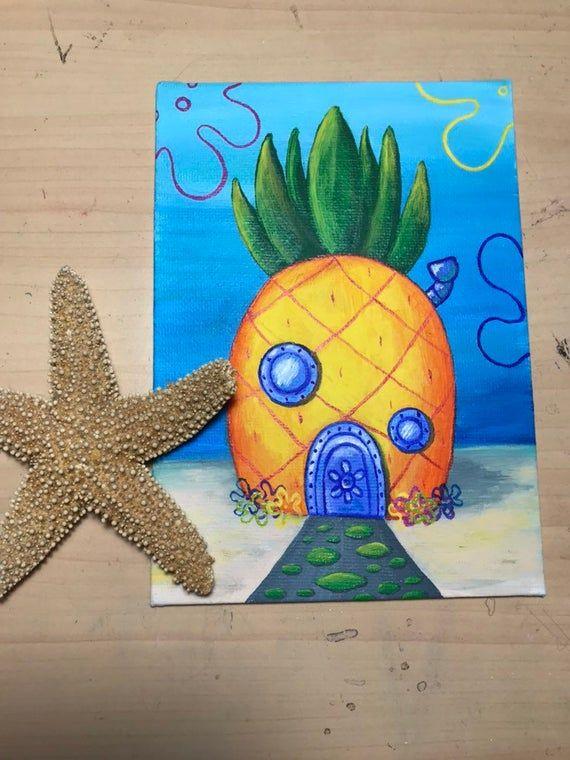 Squidward's House | Spongebob painting, Spongebob drawings