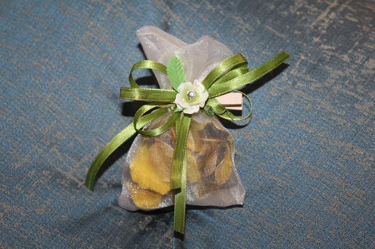 sacchetto in organza con  poupour