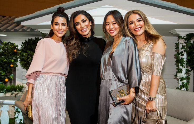 Huda Magnificence, Mona Kattan & Aimee Track Go to Home Of Bazaar