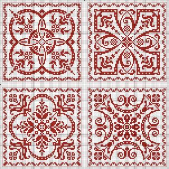 Free Patterns - Square, Round, etc. Great for biscornu