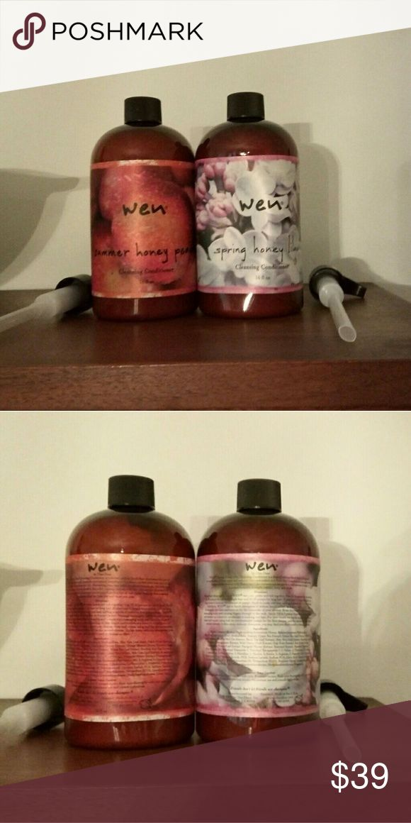 Wen Hair Care Bundle 2 16 oz Cleansing Conditioner Still have original foil seal on each.  Summer Honey Peach and Spring Honey Lilac.  Comes with pumps. Wen  Other
