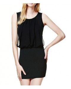Black Ruffle Layer Dress