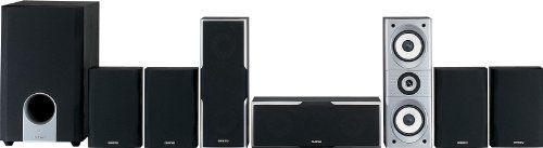 Onkyo SKS-HT540 7.1 Channel Home Theater Speaker System by Onkyo. $349.00. Amazon.com                 The 7.1-channel Onkyo SKS-HT540 speaker package is the perfect addition to your DVD player and home theater receiver. It features 2-way bass reflex front, center and surround speakers that provide an excellent soundstage with 130 watts of output each, plus an earth-shaking 230W powered subwoofer for rumbling impact.  Each of the front and center speakers feature dual 5-inch w...