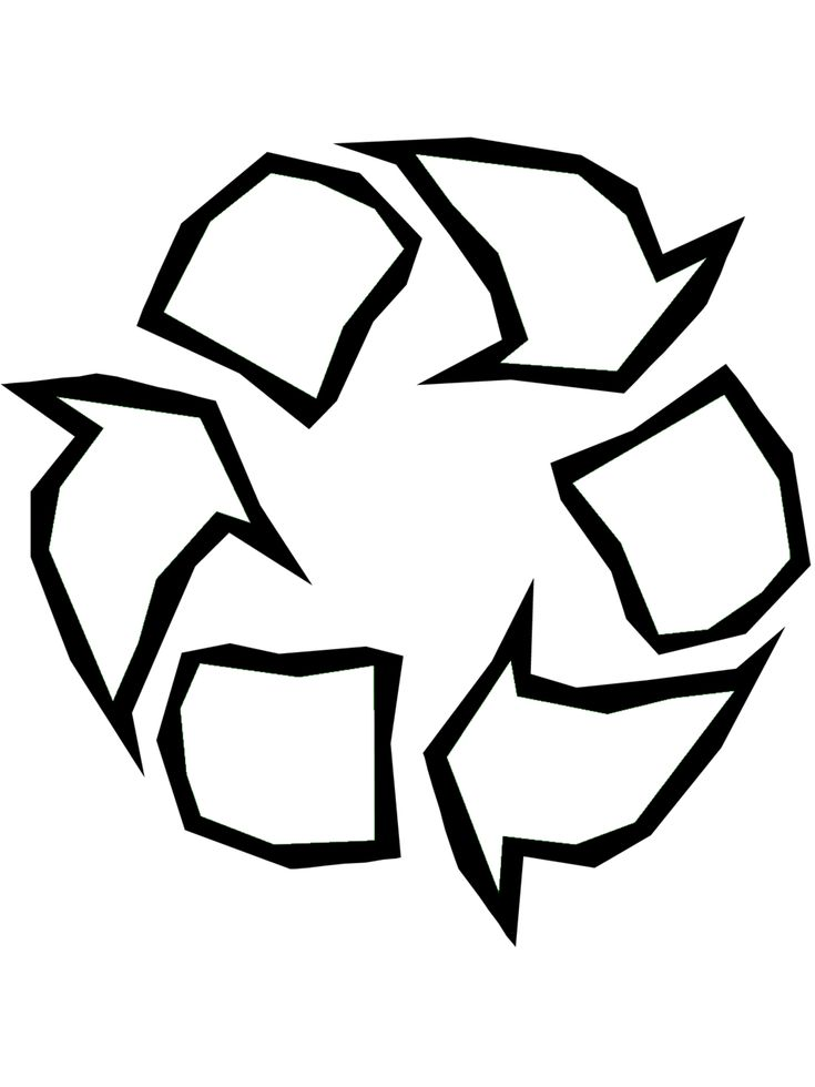 Earth Day Coloring Page: Recycle Symbol - Free printable Earth Day and Ecology coloring pages for kids from PrimaryGames. www.primarygames.com