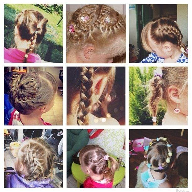 Косички на детские волосы. Детские косички своими руками