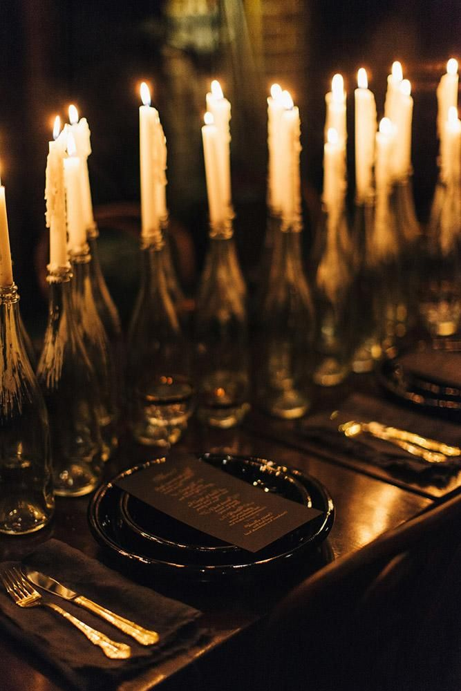 Hot Or Not 33 Halloween Wedding Ideas For Daring Couples Halloween Themed Wedding Dark Wedding Industrial Wedding Table Decorations