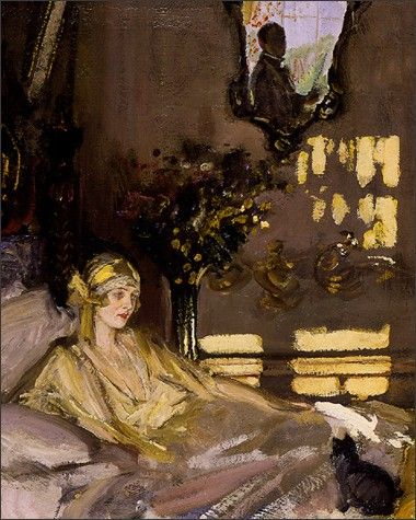 High society, Lady Diana Cooper by  Sir John Lavery