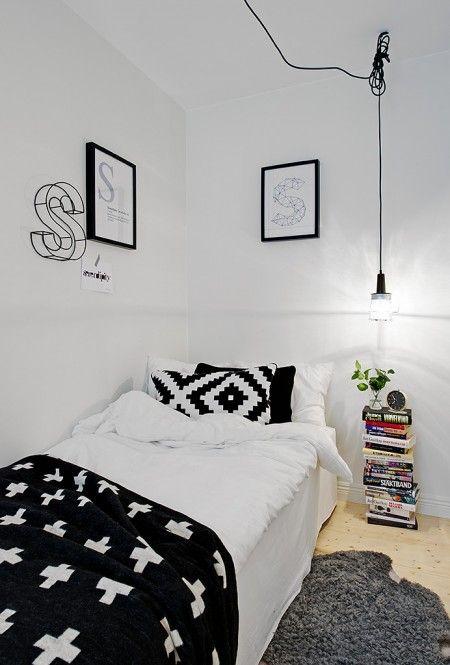 48m² diáfanos en blanco y negro - Estilo nórdico | Blog de decoración | Muebles diseño | Decoración de interiores - Delikatissen
