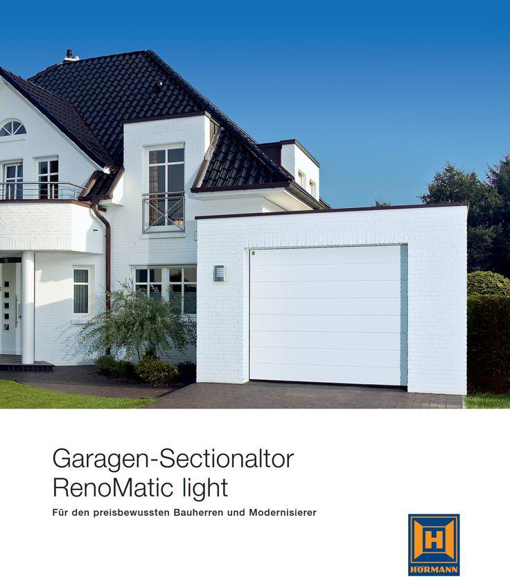 Hörmann, Sectionaltor, RenoMatic light, M-Sicke, Woodgrain, Weiß, inklusive Antrieb, ab 749,- EUR.